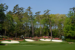AUGUSTA, GA - APRIL 09: General view of the 16th during a practice round of the 2014 Masters held in Augusta, GA at Augusta National Golf Club on Wednesday, April 9, 2014. (Photo by Donald Miralle)