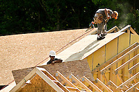 Home construction of D.R. Horton homes located with in Berewick neighborhood in Charlotte, NC.
