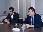 Gorka Maneiro and Miguel Angel Arranz during the meeting between Partido Popular and Union Progreso y Democracia. May 23,2016. (ALTERPHOTOS/Rodrigo Jimenez)