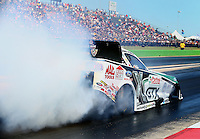Sept. 21, 2013; Ennis, TX, USA: NHRA funny car driver John Force during qualifying for the Fall Nationals at the Texas Motorplex. Mandatory Credit: Mark J. Rebilas-
