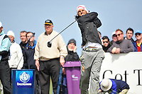Johan Edfors tees off on the 10th hole during the Final Round of the 3 Irish Open on 17th May 2009 (Photo by Eoin Clarke/GOLFFILE)