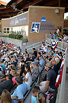 4 JUNE 2016:  Fans watch the Division II Men's Baseball Championship between Millersville University and Nova Southeastern University held at the USA Baseball National Training Complex in Cary, NC.  Nova Southeastern University defeated Millersville University 8-6 to win the national title.  Grant Halverson/NCAA Photos