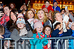 Little Roisin Long and Lauren Gallagher amazed at the Christmas in Killarney parade on Saturday evening