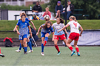 Boston, MA - Friday July 07, 2017: Allysha Chapman clears the ball during a regular season National Women's Soccer League (NWSL) match between the Boston Breakers and the Chicago Red Stars at Jordan Field.