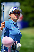 Amy Yang (KOR) prepares to putt on the practice green before Sunday's final round of the 2017 KPMG Women's PGA Championship, at Olympia Fields Country Club, Olympia Fields, Illinois. 7/2/2017.<br /> Picture: Golffile | Ken Murray<br /> <br /> <br /> All photo usage must carry mandatory copyright credit (&copy; Golffile | Ken Murray)