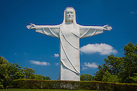 Christ of the Ozarks statue is a  7-story tall, 2 million pound, white concrete statue of Jesus known as Christ of the Ozarks, erected privately in 1966 as part of a planned religious theme park. The statue sits across the valley from the downtown area and is visible from many points in the immediate area.