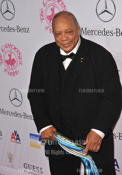 Quincy Jones at the 26th Carousel of Hope Gala at the Beverly Hilton Hotel..October 20, 2012  Beverly Hills, CA.Picture: Paul Smith / Featureflash