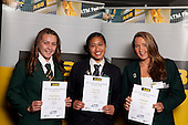 Volleyball Girls finalists Rosemarie Johnston, Vaovai Aiono and Danielle Quigley. ASB College Sport Young Sportsperson of the Year Awards held at Eden Park, Auckland, on November 11th 2010.