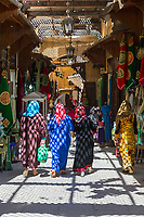 Fes, Morocco.  Street Scene in Fes El-Bali (Old City).