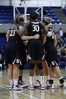 DAVIS, CA - NOVEMBER 22:  Jeanette Pohlen, Nnemkadi Ogwumike and the team during Stanford's 76-51 win over UC Davis on November 22, 2009 in Davis, California.