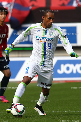 Bruno Cesar (Bellmare),<br /> MARCH 14, 2015 - Football / Soccer : <br /> 2015 J1 League 1st stage match between<br /> Kashima Antlers 1-2 Shonan Bellmare<br /> at Kashima Soccer Stadium in Ibaraki, Japan.<br /> (Photo by Shingo Ito/AFLO SPORT)