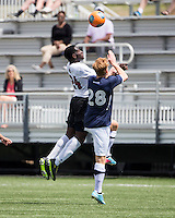 The UNC Greensboro Spartans played the University of South Carolina Gamecocks in The Manchester Cup on April 5, 2014.  The teams played to a 0-0 tie.  Jeffery Addai (24), Preston Ford (28)