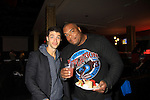 "One Life To Live David Gregory ""Ford"" poses with Sean Ringgold at 9th Annual Daytime Stars & Strikes Charity Event to benefit The American Cancer Society on October 7, 2012 at Bowlmor Lanes Times Square, New York City, New York.  (Photo by Sue Coflin/Max Photos)"