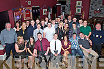 DOUBLE: Friends Ian Murphy (Listellick Cross)  and Davis Smith (Caherslee Tralee) who celebrated their 21st in O'Donnells Bar & Restaurant, Mounthawk, Tralee on Saturday night with their family and friends (Ian is seated 3rd from left)) and David is seated 4th ffrom right)