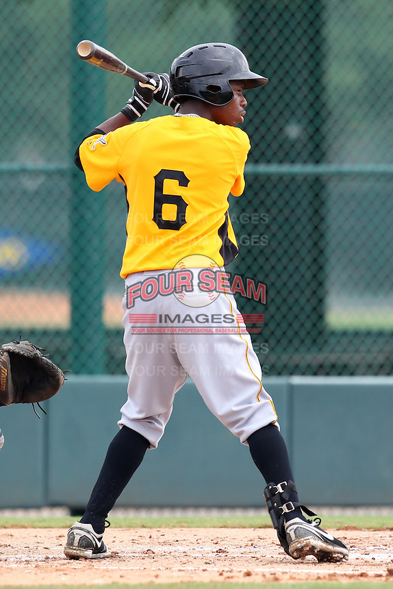 GCL Pirates outfielder Junior Sosa #6 during a game against the GCL Braves at Disney Wide World of Sports on June 25, 2011 in Kissimmee, Florida.  The Pirates defeated the Braves 5-4 in ten innings.  (Mike Janes/Four Seam Images)
