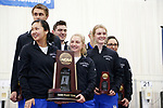 COLUMBUS, OH - MARCH 11: The University of Kentucky stands at the podium with the third place trophy during the Division I Rifle Championships held at The French Field House on the Ohio State University campus on March 11, 2017 in Columbus, Ohio. (Photo by Jay LaPrete/NCAA Photos via Getty Images)