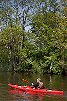 Kayaking on the River Thames in Berkshire, UK