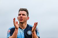 Matt Bloomfield of Wycombe Wanderers during the Sky Bet League 2 match between Dagenham and Redbridge and Wycombe Wanderers at the London Borough of Barking and Dagenham Stadium, London, England on 28 March 2015. Photo by Andy Rowland.