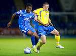 St Johnstone v Queen of the South...21.09.10  CIS Cup 3rd Round.Jennison Myrie-Williams and Ryan Conroy.Picture by Graeme Hart..Copyright Perthshire Picture Agency.Tel: 01738 623350  Mobile: 07990 594431