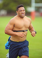 Motu Matu'u in action during the Hurricanes Super 15 rugby training at Hutt Recreation Ground, Lower Hutt, Wellington, New Zealand on Thursday, 24 January 2013. Photo: Dave Lintott / lintottphoto.co.nz