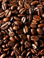 Columbian Fair Trade Coffe  beans stock photos