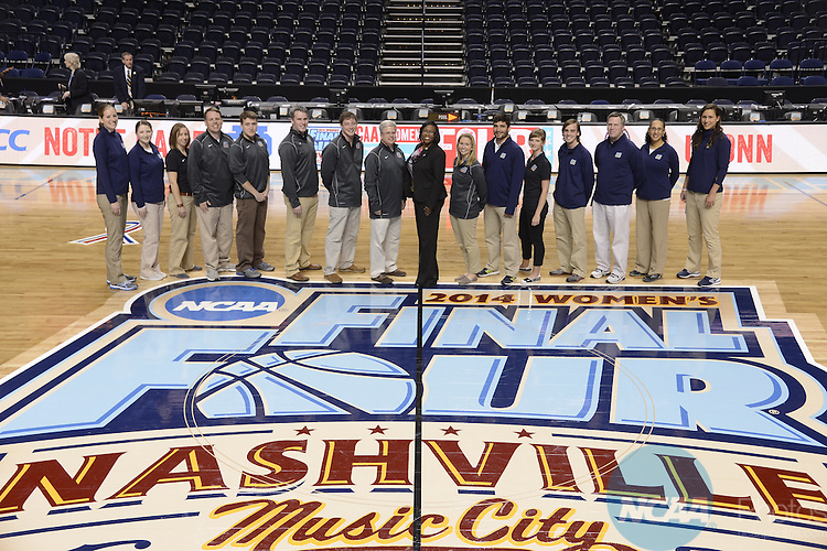 08 Apr 2014:  Group portraits during the 2014 Division I Women's Final Four in Nashville, TN. Jamie Schwaberow/NCAA Photos