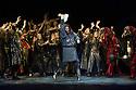 London, UK. 01.04.2014. The Kolobov Novaya Opera presents PRINCE IGOR at the London Coliseum. Picture shows: Act II - Polovtsian Camp with Vladmimir Igorevich (Aleksey Tatarintsev - centre). Photograph © Jane Hobson.