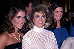 Dorothy Malone  and daughters Diane Bergerac and Mimi Bergerac attend The National Film Society's Eighth Annual Artistry in Cinema Awards on September 25, 1983 at The Sheraton Centre's Imperial Ballroom in New York City.