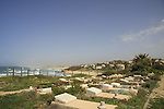 Israel, Southern coastal plain. The cemetery of Kibutz Palmahim by the Mediterranean sea