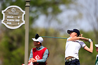 Emma Spitz (AUT) on the 9th tee during the second round of the Augusta National Womans Amateur 2019, Champions Retreat, Augusta, Georgia, USA. 04/04/2019.<br /> Picture Fran Caffrey / Golffile.ie<br /> <br /> All photo usage must carry mandatory copyright credit (&copy; Golffile | Fran Caffrey)