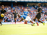 14.07.2019: Rangers v Marseille: Jermain Defoe heads in goal no 4 for Rangers