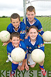 CUL KIDS: Young football stars from Glenbeigh enjoying the Kerry GAA VHI Cul Camp in Glenbeigh on Thursday last..Front row L/r. Dean Finn, Patrick O'Grady..Back L/r. Calvin Teahan and Tommy Cahill.   Copyright Kerry's Eye 2008