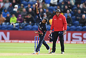 Jun 6th, The SSE SWALEC, Cardiff, Wales; ICC Champions Trophy; England versus New Zealand; Adil Rashid of England bowls