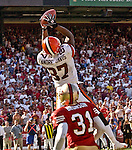 Cleveland Browns wide receiver Andre? Davis (87) makes catch to win game on Sunday, September 21, 2003, in San Francisco, California. The Browns defeated the 49ers 13-12.