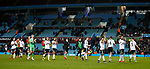 Sheffield Utd players applaud the travelling fans during the Championship match at Villa Park Stadium, Birmingham. Picture date 23rd December 2017. Picture credit should read: Simon Bellis/Sportimage