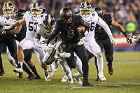 Philadelphia, PA - December 8, 2018: Army Black Knights quarterback Kelvin Hopkins Jr. (8) breaks a tackle during the 119th game between Army vs Navy at Lincoln Financial Field in Philadelphia, PA. (Photo by Elliott Brown/Media Images International)