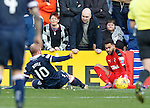 Wes Foderingham saves from Liam Boyce
