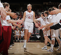 STANFORD, CA - February 23, 2012:  Joslyn Tinkle is introduced before Stanford's 68-46 victory over Colorado in Stanford, California on February 23,  2012.