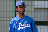 21 july 2010: Felix Brown of Team France is seen during a practice prior to the 2010 European Championship Seniors, in Neuenburg, Germany.