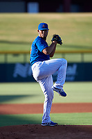 AZL Cubs 1 starting pitcher Misael Garcia (54) during an Arizona League game against the AZL Athletics Gold at Sloan Park on June 20, 2019 in Mesa, Arizona. AZL Athletics Gold defeated AZL Cubs 1 21-3. (Zachary Lucy/Four Seam Images)
