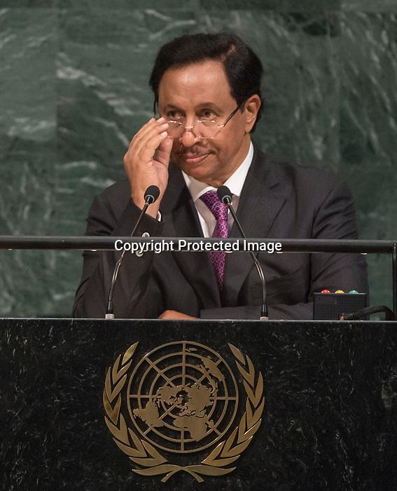 72 General Debate – 20 September <br /> <br /> 1His Highness Sheikh Jaber Al-Mubarak Al-Hamad Al Sabah, Prime Minister of the State of Kuwait   <br /> <br /> Prime Minister of the State of Kuwait, Waiting  patiently to be correctly announce
