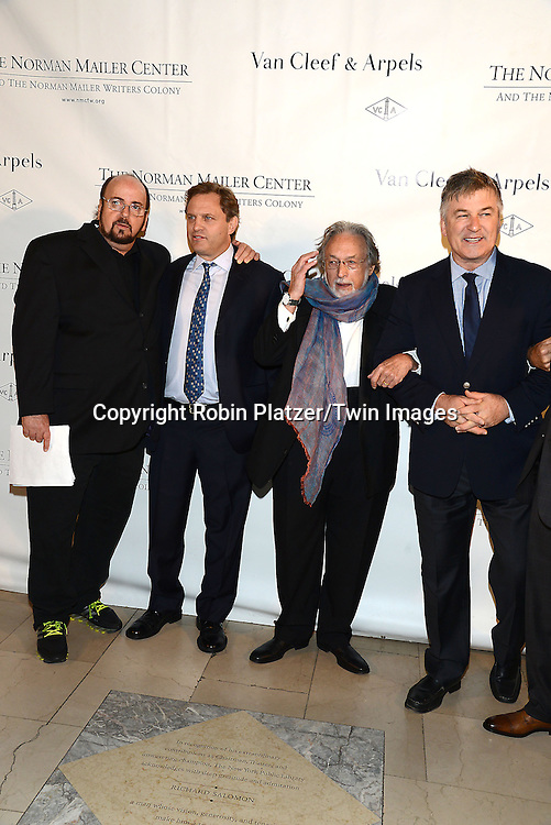 James Toback, Michael Mailer, Lawrence Schiller and Alec Baldwin attends the Norman Mailer Center Sixth Annual Gala on October 27, 2014 at The New York Public Library in New York City.<br /> <br /> photo by Robin Platzer/Twin Images<br />  <br /> phone number 212-935-0770