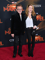 "LOS ANGELES, CA. March 04, 2019: Frankie Valli & Jackie Jacobs at the world premiere of ""Captain Marvel"" at the El Capitan Theatre.<br /> Picture: Paul Smith/Featureflash"