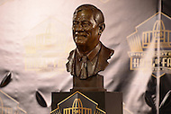 Canton, Ohio - August 8, 2015: The bust of former NFL team executive Bill Polian is displayed during the 2015 Pro Football Hall of Fame enshrinement in Canton, Ohio, August 8, 2015. During his 32-season career, Polian made contributions to three different NFL teams that resulted in a combined five Super Bowls.(Photo by Don Baxter/Media Images International)