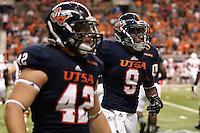 SAN ANTONIO, TX - SEPTEMBER 28, 2013: The University of Houston Cougars versus the University of Texas at San Antonio Roadrunners Football at the Alamodome. (Photo by Jeff Huehn)
