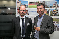 From left are Graham Parkinson of Musson Liggins, Nick Rotton of Sterling Capital and Giles Davis of Geo Hallam