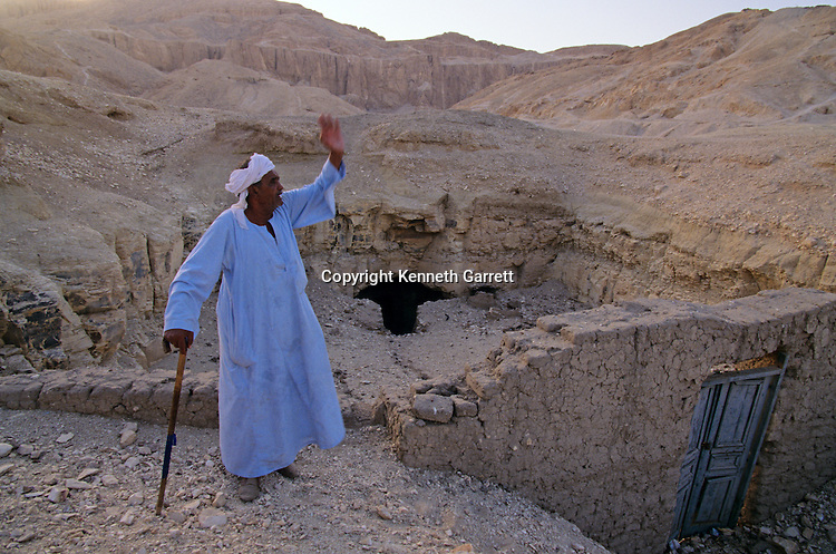 Valley of the Kings; House of a family of looters; built over tomb entrance; Nobles Tombs; Luxor; Egypt