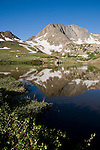 Static Peak, Michigan Lakes, subalpine, alpine, transition zone, summer, July, Colorado State Forest, Rocky Mountains, Colorado, USA