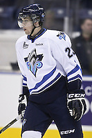 QMJHL (LHJMQ) hockey profile photo on Rimouski Oceanic Frederik Gauthier October 6, 2012 at the Colisee Pepsi in Quebec city.