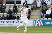 Ed Barnard of Worcestershire celebrates taking the wicket of Simon Harmer during Worcestershire CCC vs Essex CCC, Specsavers County Championship Division 1 Cricket at Blackfinch New Road on 11th May 2018